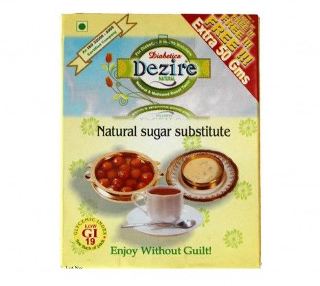 Dezire Natural Sugar Substitute 250G at Rs.186 online with shipping in India.