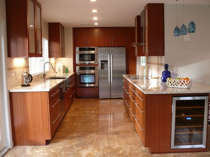 Bright Modern Kitchen With Mahogany Cabinets Part 76
