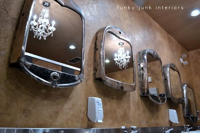 Funky Junk Interiors: mirrored radiators