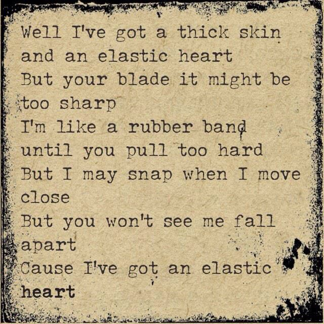 Sia - elastic heart lyrics