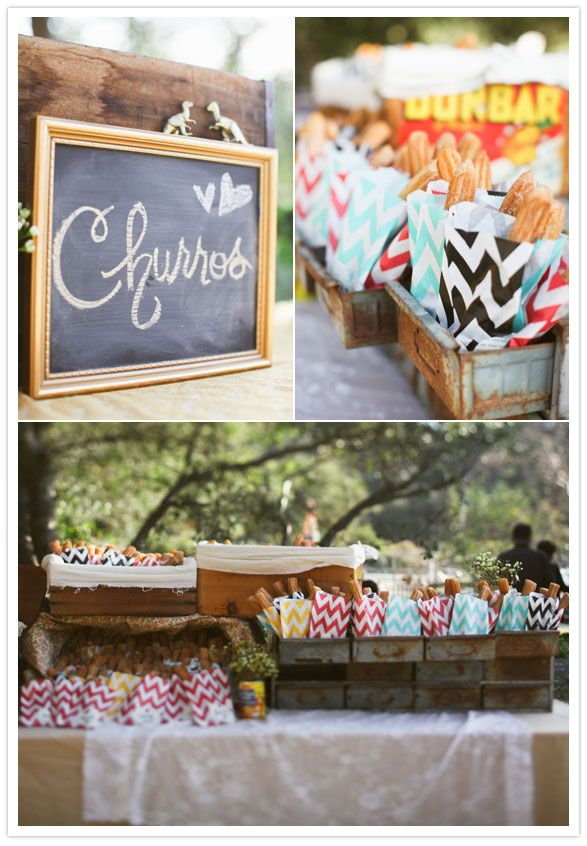 Churro party favors!  The perfect late night snack.  Your guests will love munching on these on the way home from your fiesta!