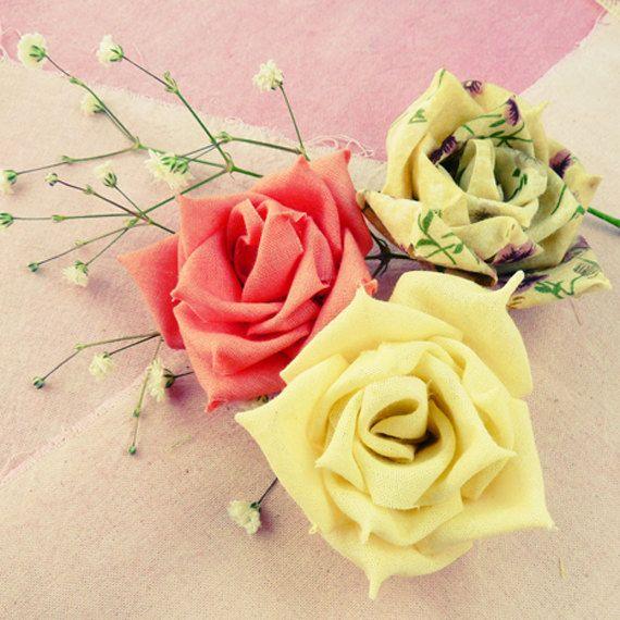 Rose fabric flowers tutorial & ribbon flower tutorial  by Soles, $7.50