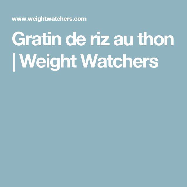 Gratin de riz au thon | Weight Watchers