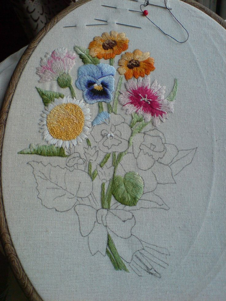 Beginning the pansies in shades off blue