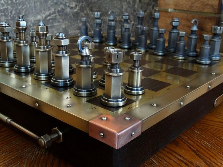 Handmade Steampunk Chess Set