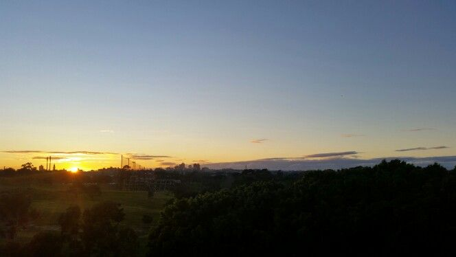 Sun rise view at Danks street, New South Wales