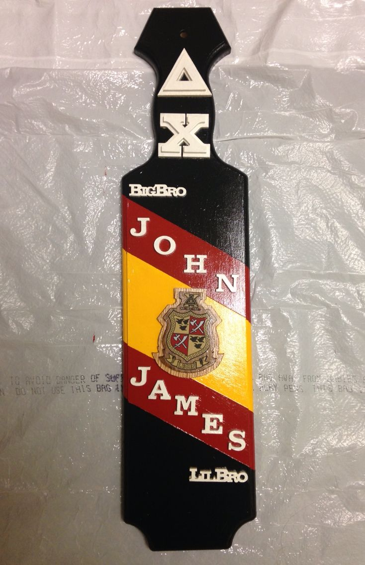 Delta Chi Paddle #fraternity #paddle