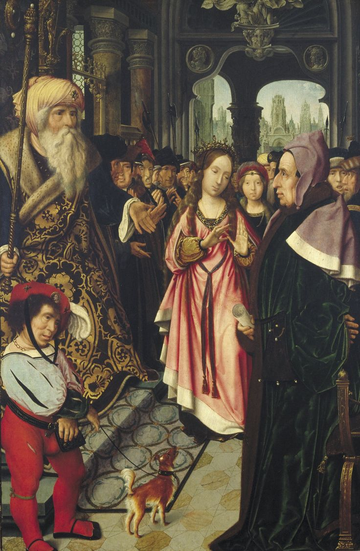 The Dispute of Saint Catherine of Alexandria / La disputa de Santa Catalina de Alejandría // ca. 1520 // Jan Provoost | Collection Boijmans