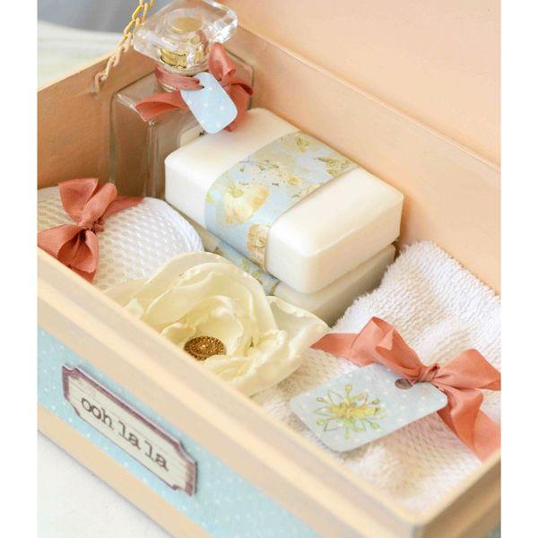 Ooh-la-la, create this flirty, feminine spa kit!