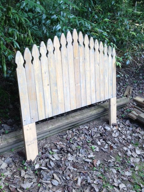Rustic Picket Fence Headboard by BarnCountryFurniture on Etsy