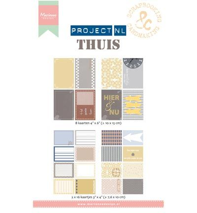 Marianne Design Project NL Card set - Thuis