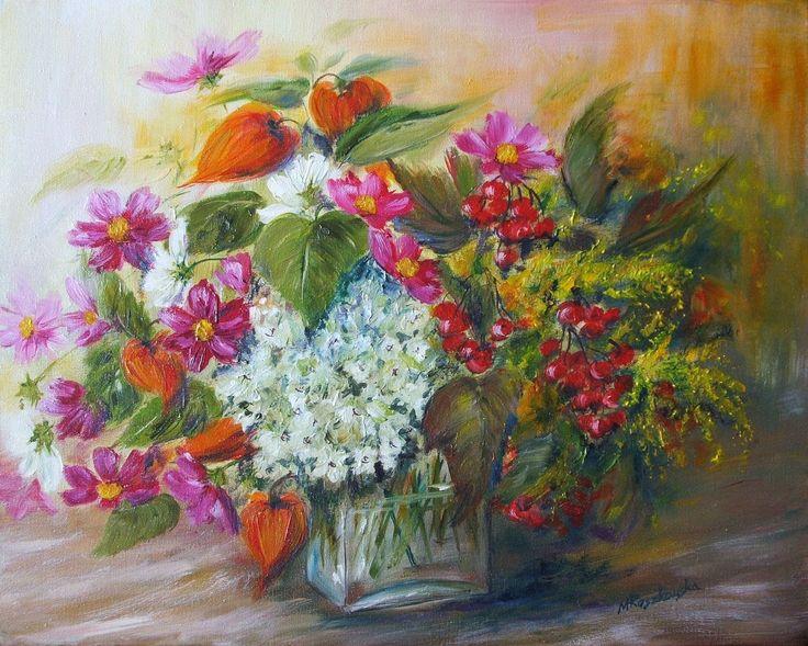 Kolorowy bukiet -  Maria Roszkowska