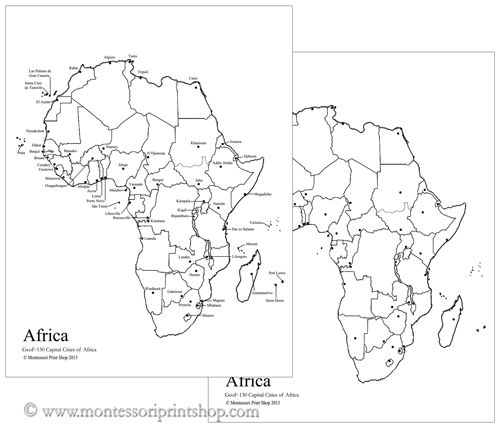 Africa Map Countries Study