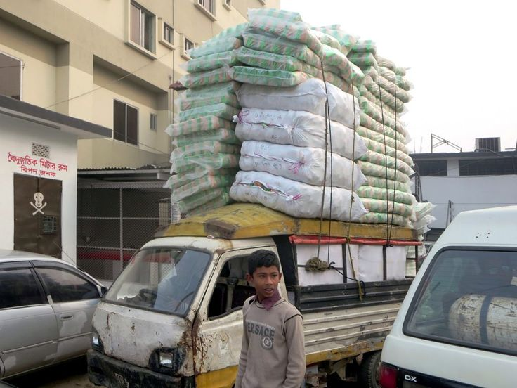 This cargo vehicle was seen at Bogra, Bangladesh.