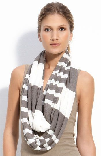 Vince Mixed Stripe Linen Infinity Scarf