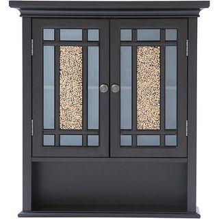 genevieve double door wall cabinet by elegant home fashions gevenieve double door wall cabinet brown espresso wood