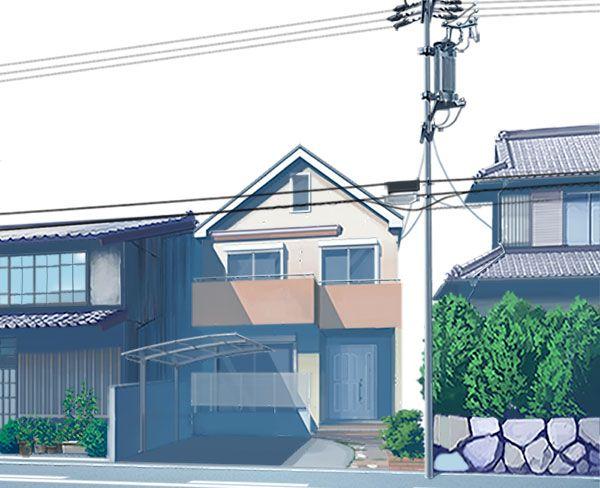 住宅街の町並みの描き方 ホームウェア 住宅 家