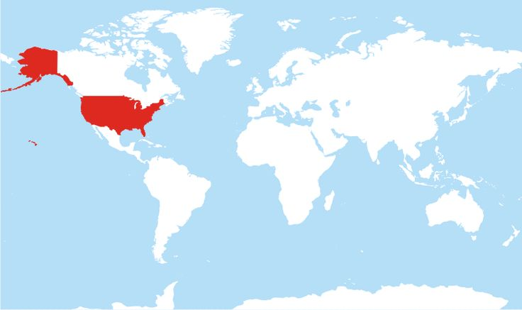 Comprehensive map of all countries in the world that use the MMDDYYYY format