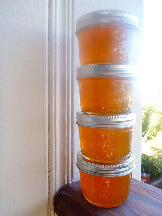 Lemon-Honey Jelly (no sugar, made with powdered pectin)