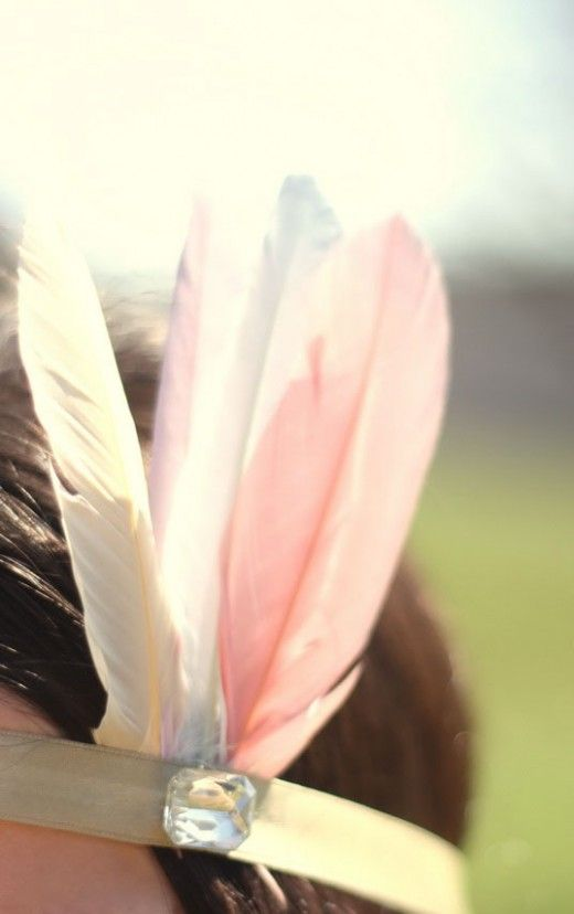 sweet and simple headdress {the cherry blossom girl}