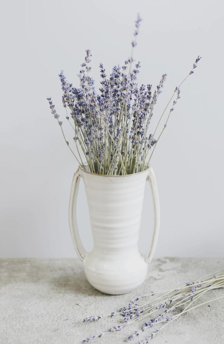 Farmhouse ceramic flower vase with handles 775 tall in