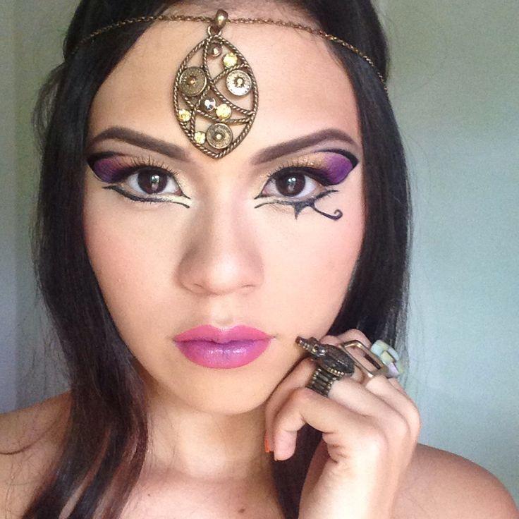 Dark horse - Katy Perry inspired makeup (Egyptian makeup ...