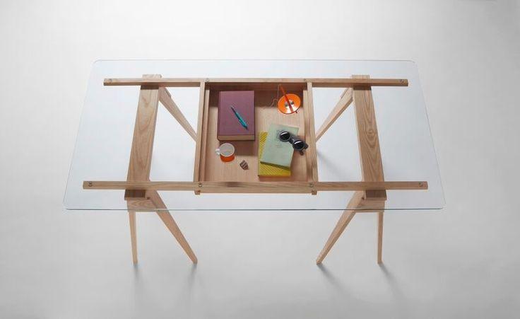 Arco skrivbord glas - Design House - Dennys Hom Klockren diy?