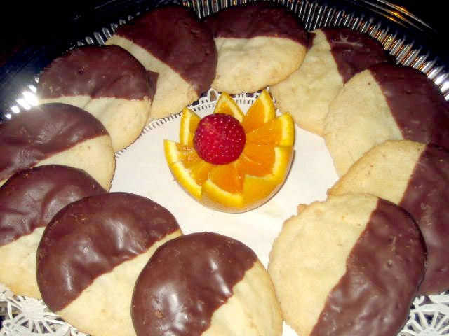 Terri Froiland requested the recipe for chocolate-dipped almond cookies served at Rochester Deli, 143 W. Broadway, Waukesha.