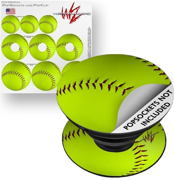 Decal Style Vinyl Skin Wrap 3 Pack For Popsockets Softball Popsocket Not Included Softball Popsocket Popsockets Softball