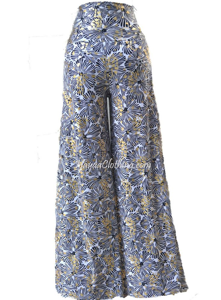 Hayaa Clothing - High-Waisted Gold Foil Black White Butterfly Palazzo Pants, $28.99 (http://www.hayaaclothing.com/high-waisted-gold-foil-black-white-butterfly-palazzo-pants/)