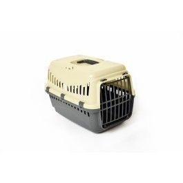 Reismand Transporter Gipsy Grijs/Ivoor#Eenvoudig vervoersbox voor kleine hond of kat.