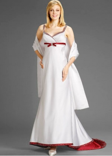 White Wedding Dresses With Red Trim : Best images about wedding dresses with red trim on