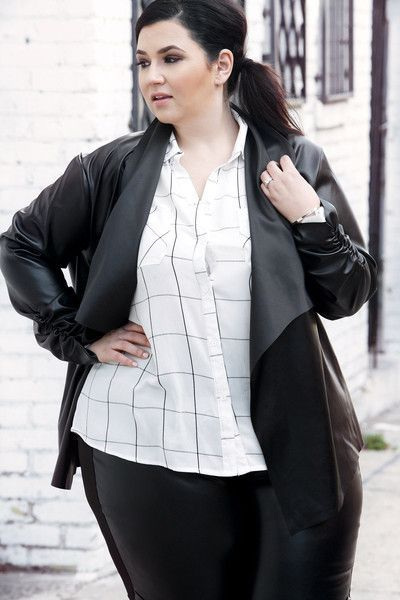 Plus Size Clothing for Women - Society+ Plus Size City Open Blazer - Black (Sizes 14 - 32) - Society+ - Society Plus - Buy Online Now!