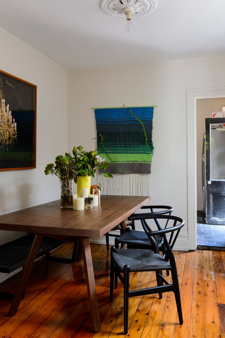 eclectic dining space