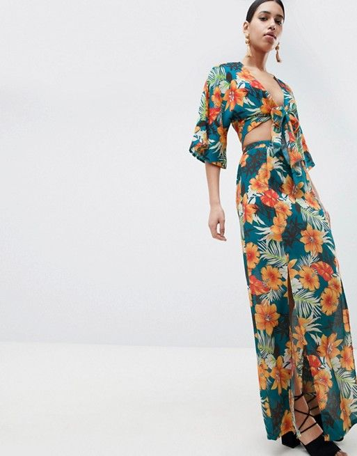 39f21196b6a PrettyLittleThing exclusive tropical print maxi skirt in 2019 ...