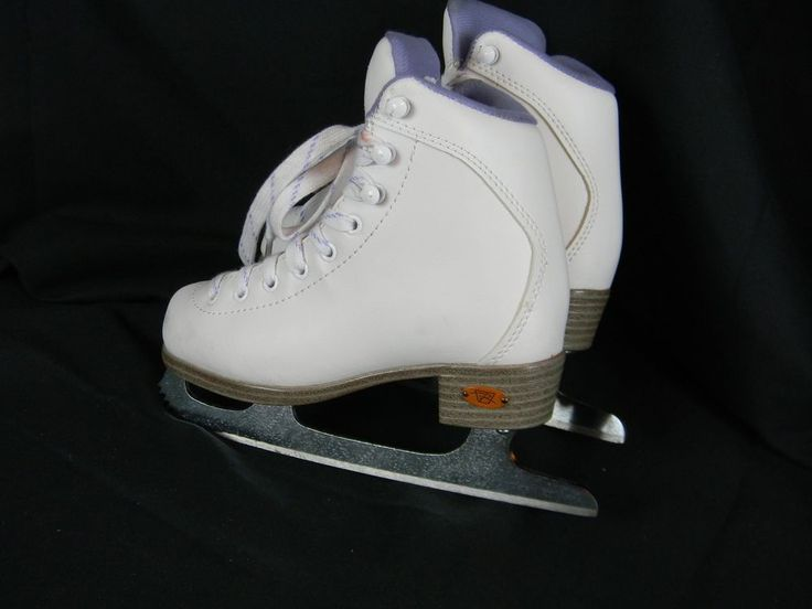 Riedell White Ice Skates Juniors Size 13 Lace Up Figure Skating Youth  | eBay