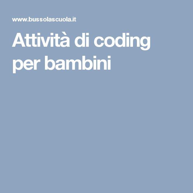 Attività di coding per bambini