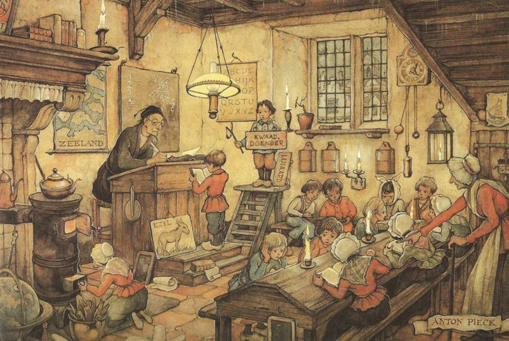 """""""Klasje"""". Anton Pieck (1895-1987), Dutch painter and illustrator. I'm going to draw like this. Next project."""