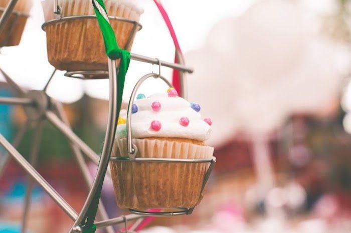 Vintage amusement park themed birthday for kids.