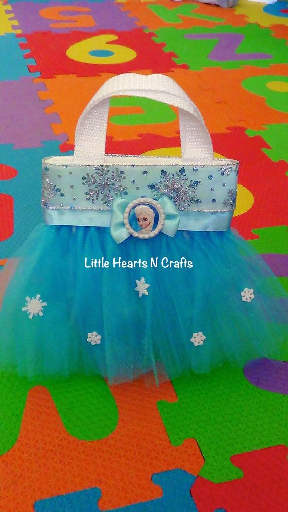 Elsa Frozen Princess Inspired Tutu Purse by LittleHeartsNCrafts, $9.50 party favor