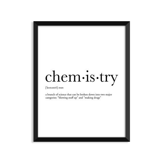 Chemistry definition dictionary art print by footnotestudios