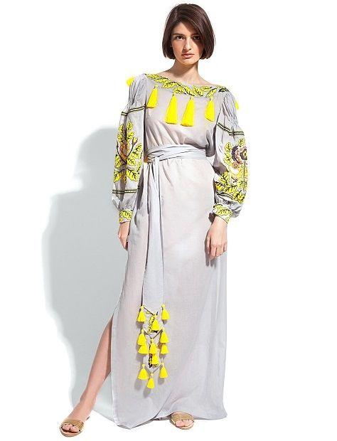 Вышивка платья тесьмой