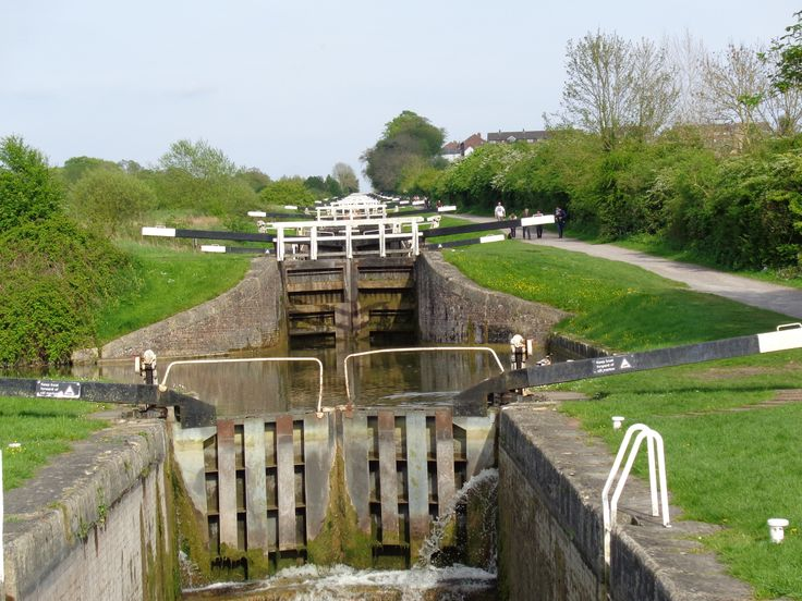 The famous lochs of Caen Hill (Devizes) . There are 29 locks which rise 237 feet over 2 miles. Quite a sight - particularly when canal boats are going through the system.