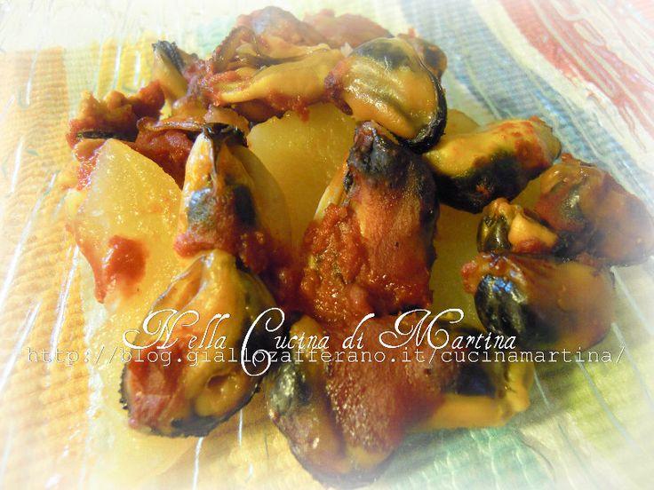 Cozze e Patate al forno, ricetta di mare