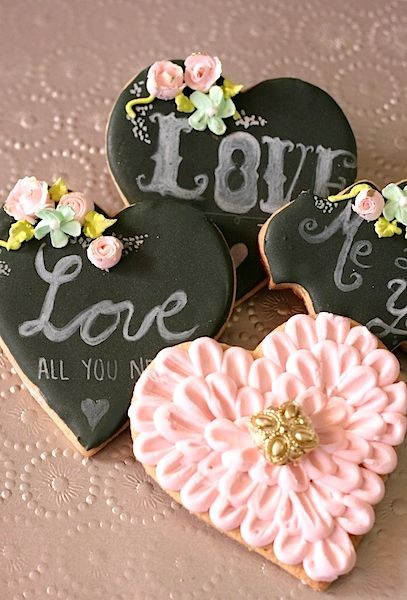 Galletas decoradas de SAn Valentín