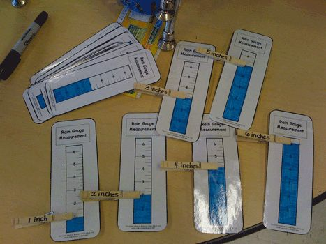 Rain gauge center activity- this site has a link to print your own rain gauge   RAIN GAUGE OT