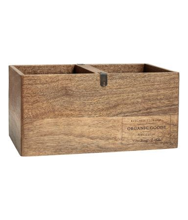 Wooden Storage Box | Natural | H&m home | H&M US  Size 6 1/2 x 8 1/4 x 13 1/2.