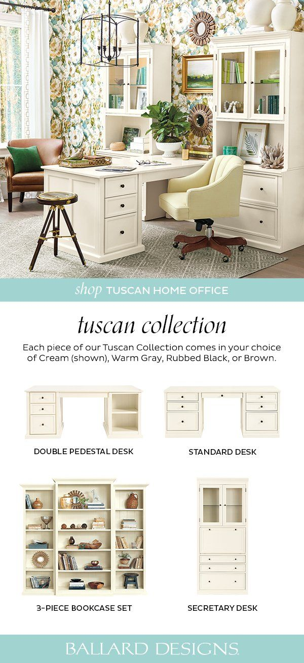 Our Tuscan Home Office Furniture Blends Modern Versatility