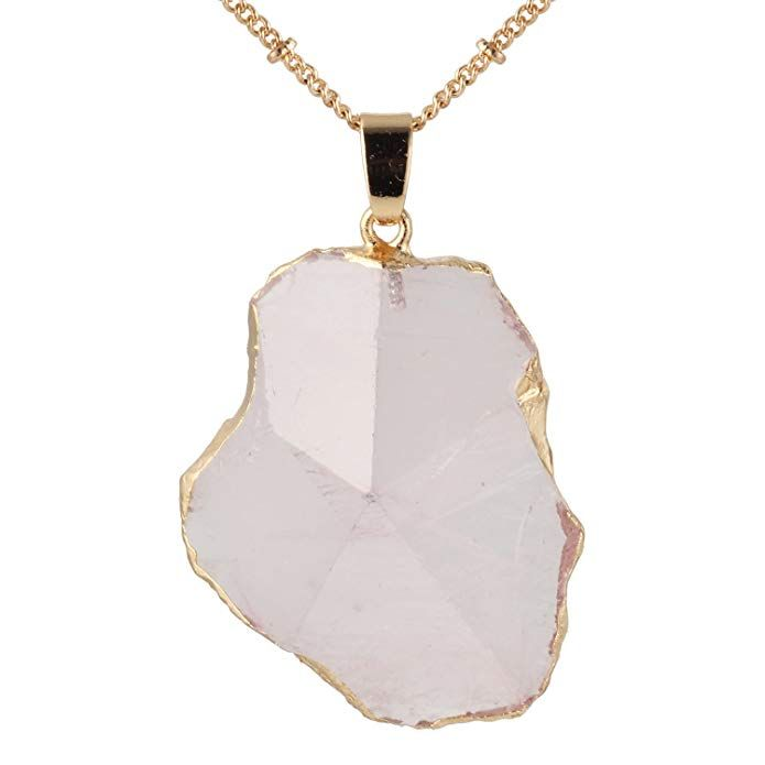 Amazon Com Bonnie 24 Inch Agate Stone Crystal Pendant Necklace Natural Stone Handmade Jewelry 5 J Crystal Necklace Pendant Pendant Necklace Crystal Pendant