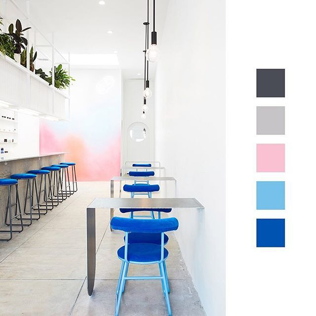 Color Camp - Nail Bar in Los Angeles ✨  Designed by J Byron-H / Photo by Jennifer Chong  #interiorinspiration #colorpalette